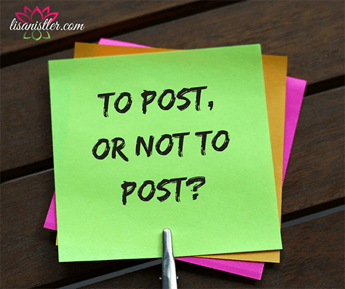 To post, or not to post | lisanistler.com Website Design Maple Grove, MN
