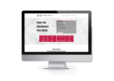 Website Design and Online Booking for A&A Insurance Services, Inc.