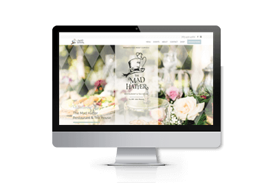 Website Redesign for The Mad Hatter Restaurant and Tea House